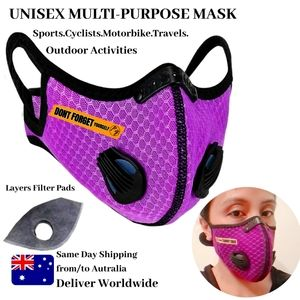 Valves | Customised Face Mask with Dual Vents Filter | 4-5 Layer Filter Pad